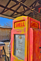 Old Shell gas pump HDR