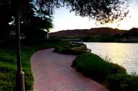 A great summer evening at Lake Las Vegas.