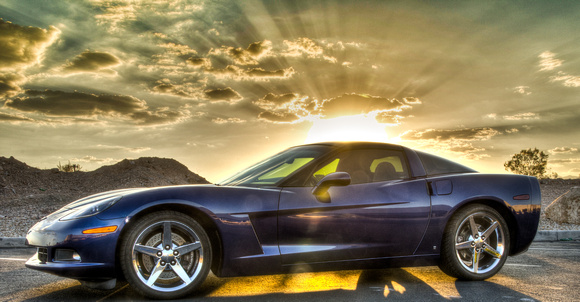 2007 C6 Corvette  Le mans Blue Summer photo shot